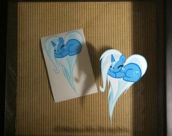 MLP Fan Art Pony Heart Decal Stickers - Trixie