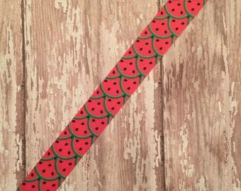 "5 yards of 7/8"" watermelon grosgrain ribbon"