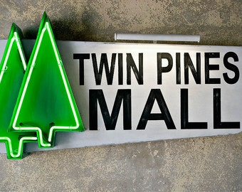 Midcentury Twin Pines Mall Sign
