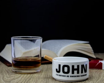 Personalised Gentleman's Ashtray - Made to Order - Custom - Bone China - Fag Tray - Cigarette - Ash Tray - Gift For Him - For Dad - Grandad
