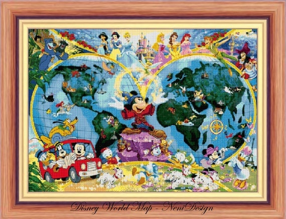 Disney heroes 22 disney world map cross stitch disney disney heroes 22 disney world map cross stitch disney cross stitch mickey mickey cross stitch pattern pdf pattern instant download gumiabroncs Images