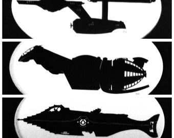 Sci-Fi Ship Silhouettes