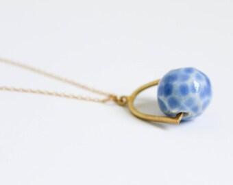 Ceramic Necklace - Backet Pendant