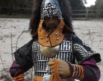 OOAK like Mongolian Warrior With Horse