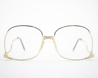Vintage Eyeglass Frame | Gold Oversized 70s Glasses | Vintage Deadstock Eyeglasses - Whet Gold