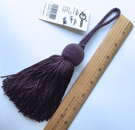 Large Tassels Home Decor: Tassel Large Purple Mauve Chainette Tassel 9 Home Decor