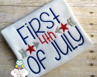 First 4th of July Shirt or Bodysuit, Baby's First Fourth of July, Baby's First 4th of July, First 4th of July Shirt, First 4th of July