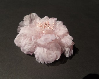"Jewelry-Wedding comb ""Justine"" with a silk organza flower"