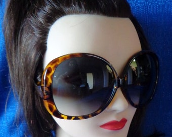 Ladies Vintage Tortoise Very large Oversized Sunglasses