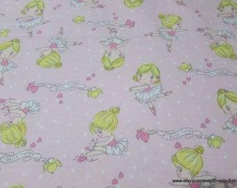 Flannel Fabric - Tutu Cute Pink - 1 yard - 100% Cotton Flannel