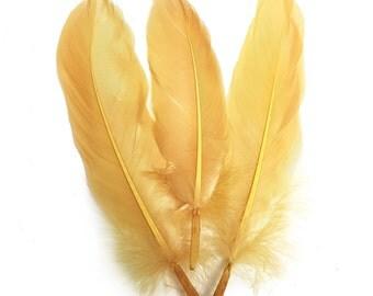 10 pc's x 15cm Caramel Duck Feathers
