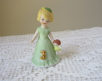 Growing Up Figurine by Enesco 3 Years Old