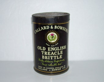 Vintage Callard and Bowser's Old English Treacle Brittle Tin