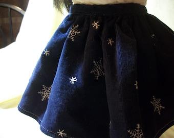 """Handmade 18"""" Doll SnowFlake Skirt - For All 18"""" Dolls"""
