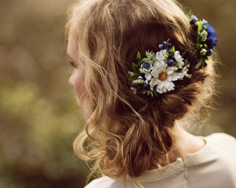 Wedding Hair Accessory Blue