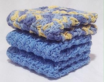 Cotton Crochet Washcloth Set - Sunrise