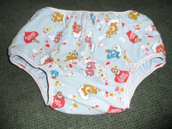 Adult Baby Diaper Cover M Care Bears