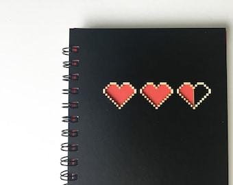 Geek Gaming Hearts Laser Cut Notebook Journal