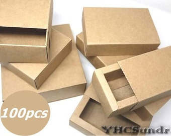 Wholesale 100pcs - 350gram Kraft paper slider Box