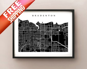 Bradenton Map Print - Florida Poster