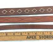 DIY Leather for cuff bracelets - set of 3