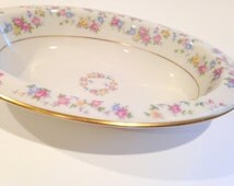 Lamberton Bowl, Lamberton Vegetable Bowl, Oval Bowl, Reverie Pattern, Lamberton China, Serving Plate, Serving Dish, Lamberton Dinnerware