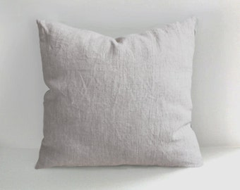 Handmade Linen Pillow Cover -Decorative Pillow - Throw Pillow Cover - Natural Linen - Cushion Cover