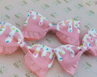 White Chocolate Sprinkle Bow