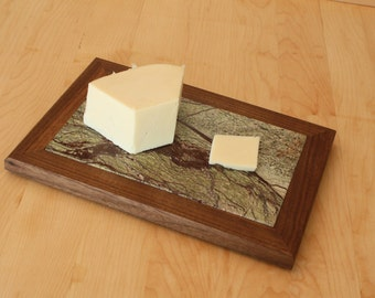 Green Rainforest Marble Cheese Board