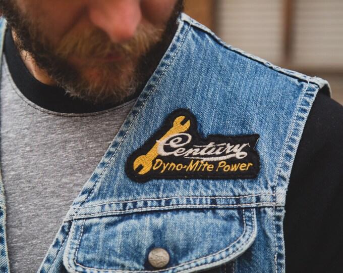 Vintage Denim Vest / Men's Lee Trevor M Jean Vest / Hydra-Glide Thunderbird Super Smooth Riding / Union Made / Motorcycle Jacket