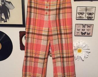 SALE 20% OFF 70s Plaid Pants