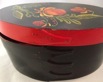 Americana Shaker Folk Art Painted Box Vintage