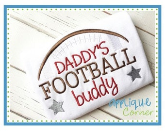 Personalized Daddy's Football Buddy Applique Shirt or Onesie