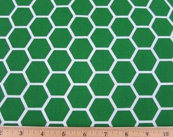 Honeycomb Green Fabric By the Yard