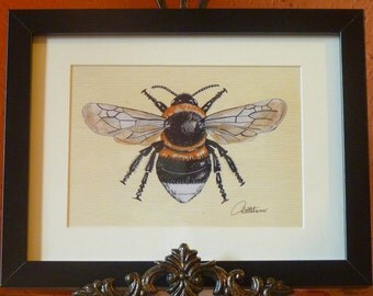 Bee Art Bumblebee Print Bumblebee Painting Bumblebee Artwork - a favouritein the bee family.Download & make into any size print or project