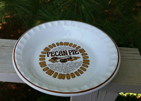 pecan pie recipe pie plate reading company china glass made