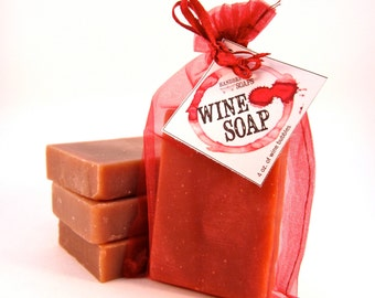 Merlot Wine Soap - Red Wine Soap, Mother's Day, Wine Lover, Gift for Her, Stocking Stuffer