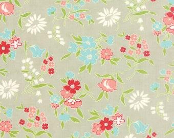 SALE!! 1/2 Yard - Vintage Picnic-Bonnie and Camille - Gray- Moda - Fabric Yardage - 55125-15