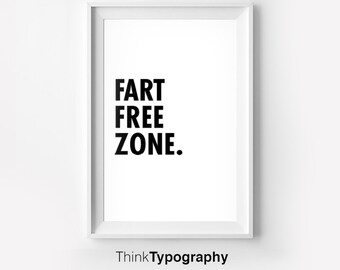 Fart zone etsy - Deco wc zwart wit ...