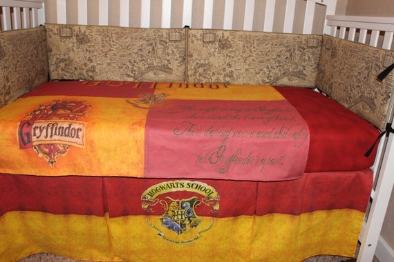 Harry Potter 6pc Baby Bedding by DeltaAnnsCreations