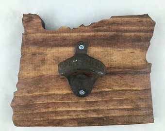 Oregon Wood Cut-out Bottle Opener - Handmade!