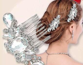 Beautiful Rhinestone Bridal Hair Comb, vintage Bridal, bridal hair piece, wedding hair