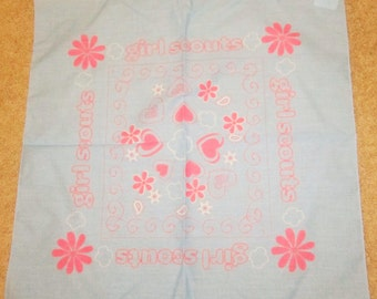 """Girl Scout Cotton Bandana-21"""" Square with Tags"""