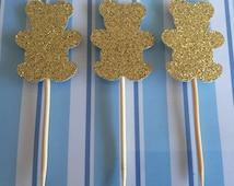 Teddy Cupcake Toppers - Teddy Bear Toppers - Teddies - Teddy Cake - Teddy Bears Picnic