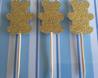 Teddy Cupcake Toppers - Teddy Bear Toppers - Teddies - Teddy Cake - Teddy Bears Picnic