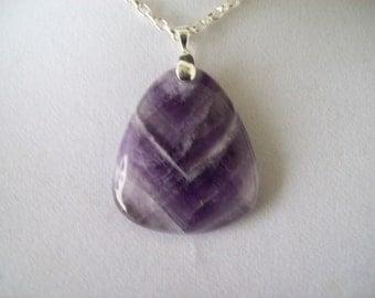 Purple Striped Agate Stone Pendant