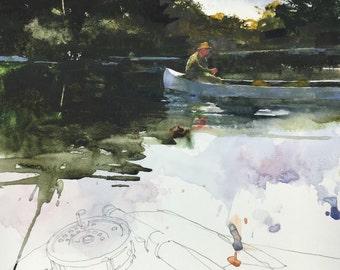 "9x12"" ORIGINAL watercolor."