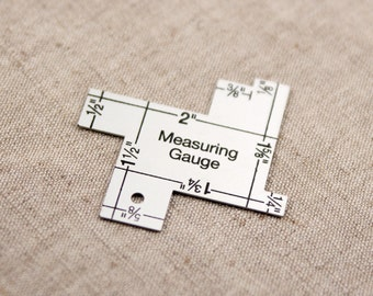 14-in-1 Measuring Gauge - Seam Gauge - Sewing Gauge - Sewing Ruler - Seam Ruler - Quilting Ruler - Quilt Gauge Collins Dritz