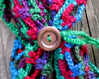 Infinity Scarf, Artfully Simple Jewel Tone Spring Cowl, Circle Scarf,  Lacy, Colorful Scarf, Bohemian