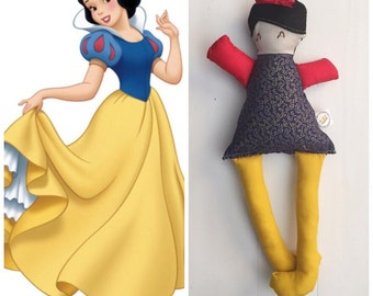 Ready to ship //Snow White Addie Doll, Disney Princess, Handmade Doll, Birthday Gift, Collectible Doll, Made to Order